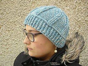 Čiapky - Háčkovaná čiapka COSETTE - 7638187_