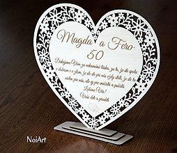 Dekorácie - Srdce Výročie - 7636928_