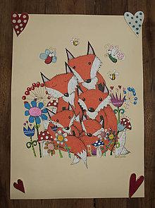 Kresby - Foxy family - 7638270_