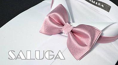 Detské doplnky - Detský motýlik vo farbe bridal rose - 7637933_