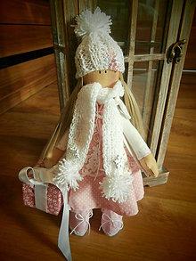 Bábiky - Ružová vianočná bábika - 7636825_