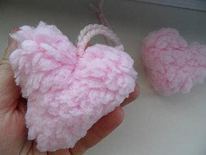 Drobnosti - ružové srdce - 7636506_