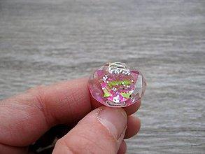 Prstene - Živicový prsteň farebný ovál (Premieňavý motýlik - živicový prsteň č.655) - 7636487_
