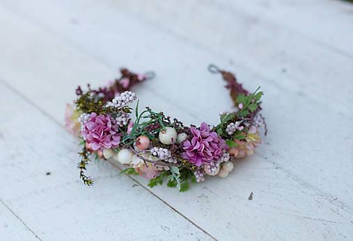 """Výpredaj z 34 eur Kvetinový polvenček """"stratená v snoch"""""""