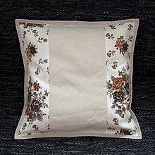 Úžitkový textil - Ľanovo kvetovaný - vankúš (1) 40x40 - 7635954_