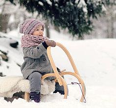 Detské čiapky - Sněhová královna - čepice Růžová mlha - 7635651_