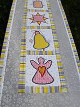 Úžitkový textil - Vianočná štóla - aplikácie :) - 7639142_