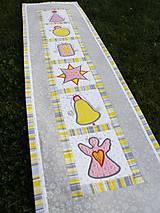 Úžitkový textil - Vianočná štóla - aplikácie :) - 7639143_