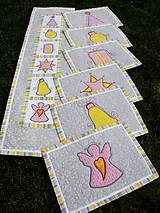 Úžitkový textil - Vianočná štóla - aplikácie :) - 7639145_