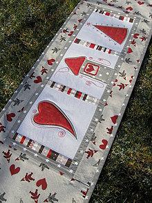 Úžitkový textil - Vianočná štóla - červená :) - 7637254_
