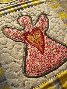 Úžitkový textil - Vianočná štóla - aplikácie :) - 7639147_