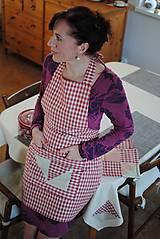 Iné oblečenie - Vintage obrus, chňapky a zástera - 7637375_