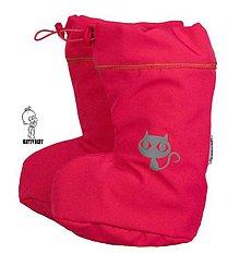 Topánočky - VÝPREDAJ - Topánočky s merino vlnou / softshell ružový - MAČKA - veľ. 2 - 7640637_