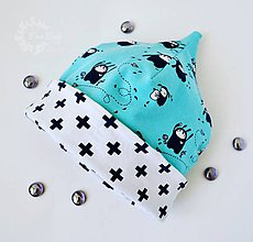 Detské čiapky - Detská čiapka s bio bavlnou 3 - 7641601_