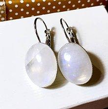 Náušnice - Moonstone French Clasp Earrings / Náušnice s mesačným kameňom - 7640371_