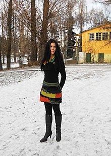 Sukne - mini sukňa hrejivá riťohrejka s golierikom - 7642581_