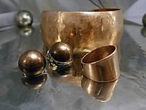 Prstene - medená obrúčka - široká - 7641585_