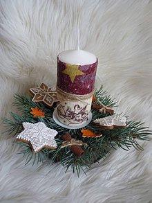 Svietidlá a sviečky - Vianočný svietnik - 7642517_