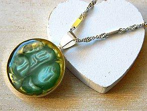 Iné šperky - Prívesok tyrkysový abstrakt - 7641683_