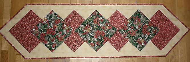 Úžitkový textil - Obrus, štóla na stôl vianočná 152x43cm - 7641519_