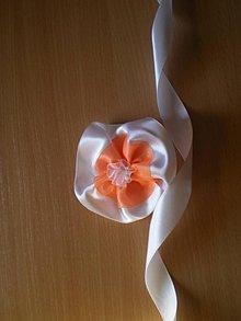 Pierka - Náramok pre družičky v oranžovej farbe - 7635812_