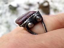 Prstene - cínovaný prsteň s Rubínom - 7640091_