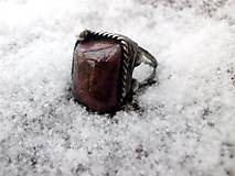 Prstene - cínovaný prsteň s Rubínom - 7640096_