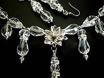 - krištáľová sada náhrdelník + náušnice - 7642725_