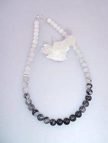 Náhrdelníky - turmalínový náhrdelník- čierny turmalín skoryl - 7642874_