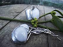 Sady šperkov - Mliečna dráha......(sklený kabošon) - 7640916_