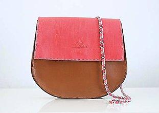 Kabelky - Brown+pink - 7641317_