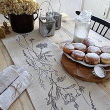 Úžitkový textil - Ľanová štóla s bylinkami - 7641433_