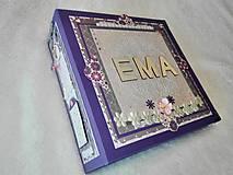 """Papiernictvo - Luxusný veľký fotoalbum pre dieťa - dievčatko """"EMA"""" - 7640673_"""