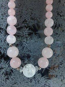 Náhrdelníky - Krása s krásou - náhrdelník ruženín a krištáľ - 7641911_