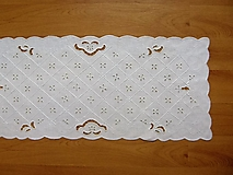 Úžitkový textil - Richelieu, biela, 71 x 31 cm - 7640755_