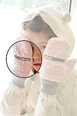 Detské doplnky - Minky rukavičky s menom - 7643003_
