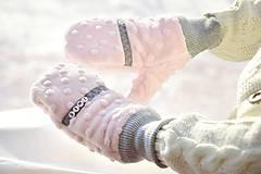 Detské doplnky - Minky rukavičky s menom - 7643007_