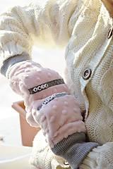 Detské doplnky - Minky rukavičky s menom - 7643011_