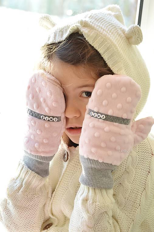Minky rukavičky s menom
