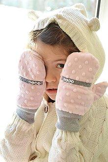 Detské doplnky - Minky rukavičky s menom - 7643009_