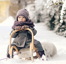 Detské čiapky - Sněhová královna - čepice Starofialová - 7641952_