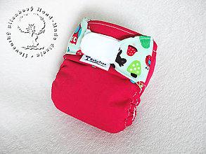 Detské doplnky - Red forest - PUL Kapsová Plienočka (veľ. S-M-L) + vkladačka - 7643154_
