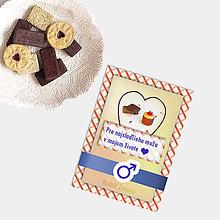 Grafika - Sladká valentínska pohľadnica cukríky pre neho (2) - 7640327_