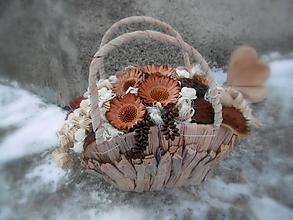 Dekorácie - košík - Zimná uspávanka - 7646190_