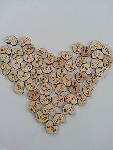 Galantéria - Veľká zľava drevené srdiečko Love - 7645159_