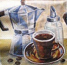 Papier - S058 - Servítky - káva, kávovar, coffee, šálka - 7643524_