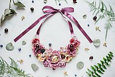 Náhrdelníky - Kvetinový náhrdelník - 7644319_