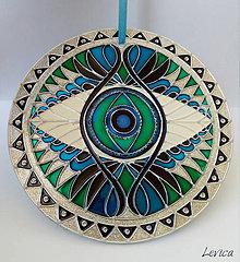 Dekorácie - Mandala Tretie Oko - 7646183_