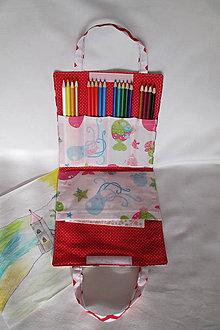 Detské tašky - pastelkovník peračník (cik cak/rybičky) - 7646649_