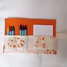 Detské tašky - pastelkovník vreckový (mačky) - 7647063_
